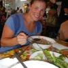Wir essen eine leckere Suppe in der Mittagshitze von franz. Guyana
