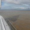 Einfahrt in den Maroni Fluss in franz. Guyana
