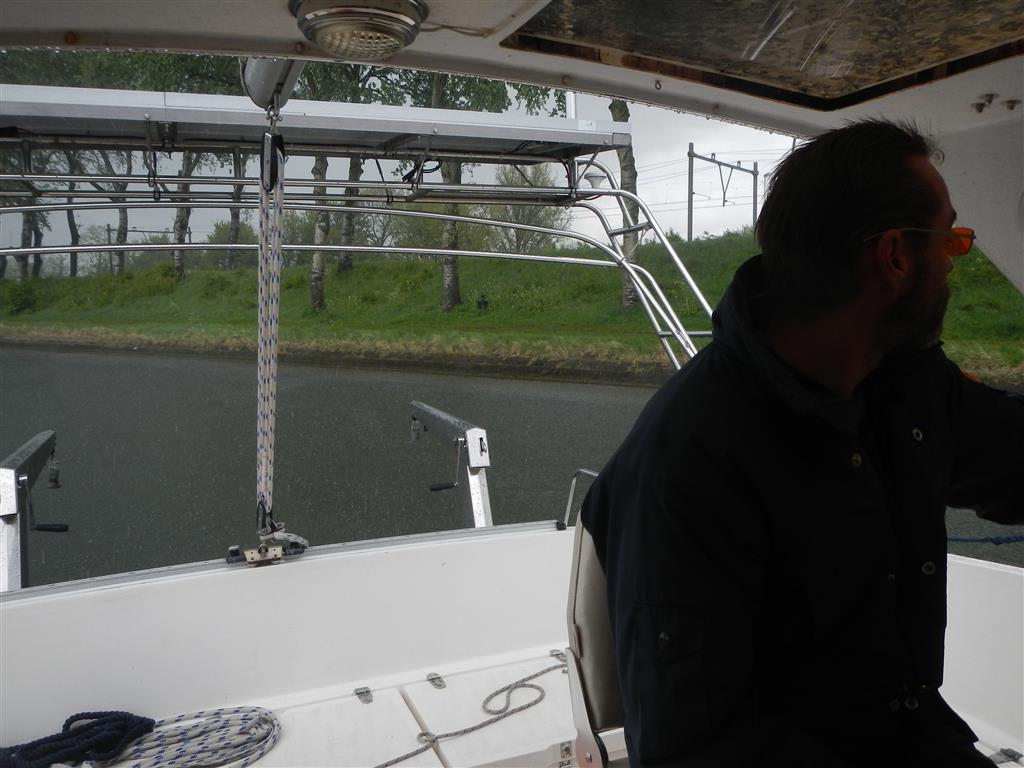 Starker Regen auf dem Weg nach Vlissingen.