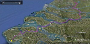 Route bis nach Vlissingen