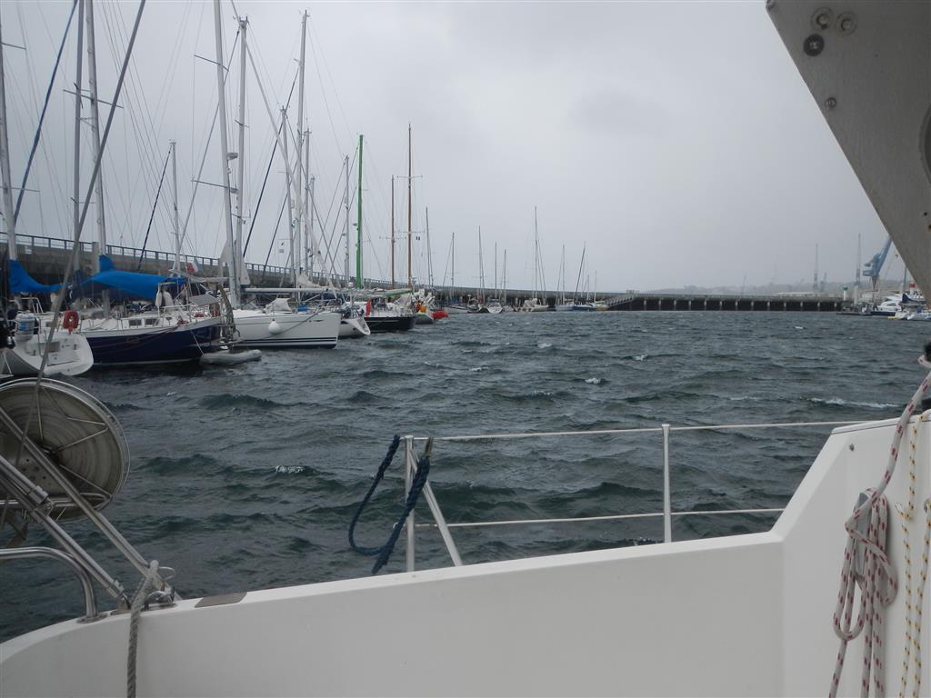 Sogar hier im Hafen war das Wasser unruhig bei dem starkem Wind!