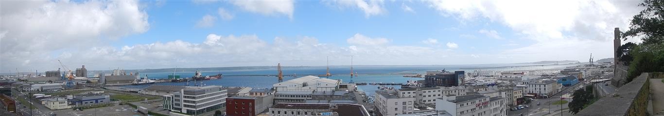 Blick über Brest