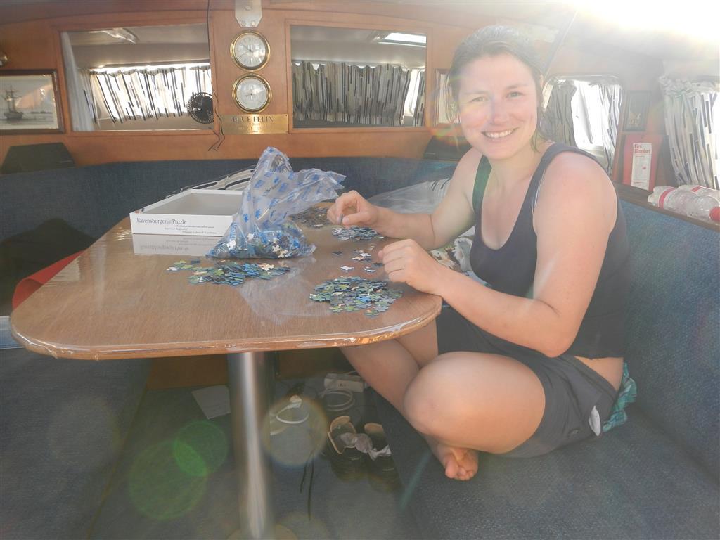Das erste Puzzle an Bord!
