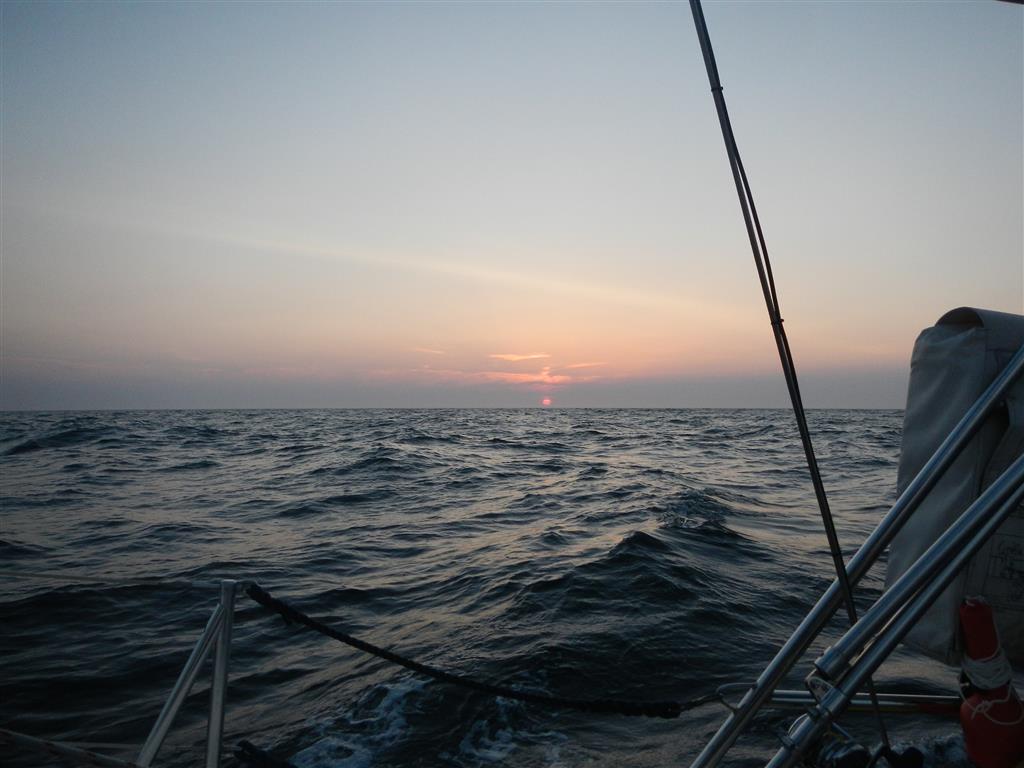 Sonnenuntergang auf der Biskaya