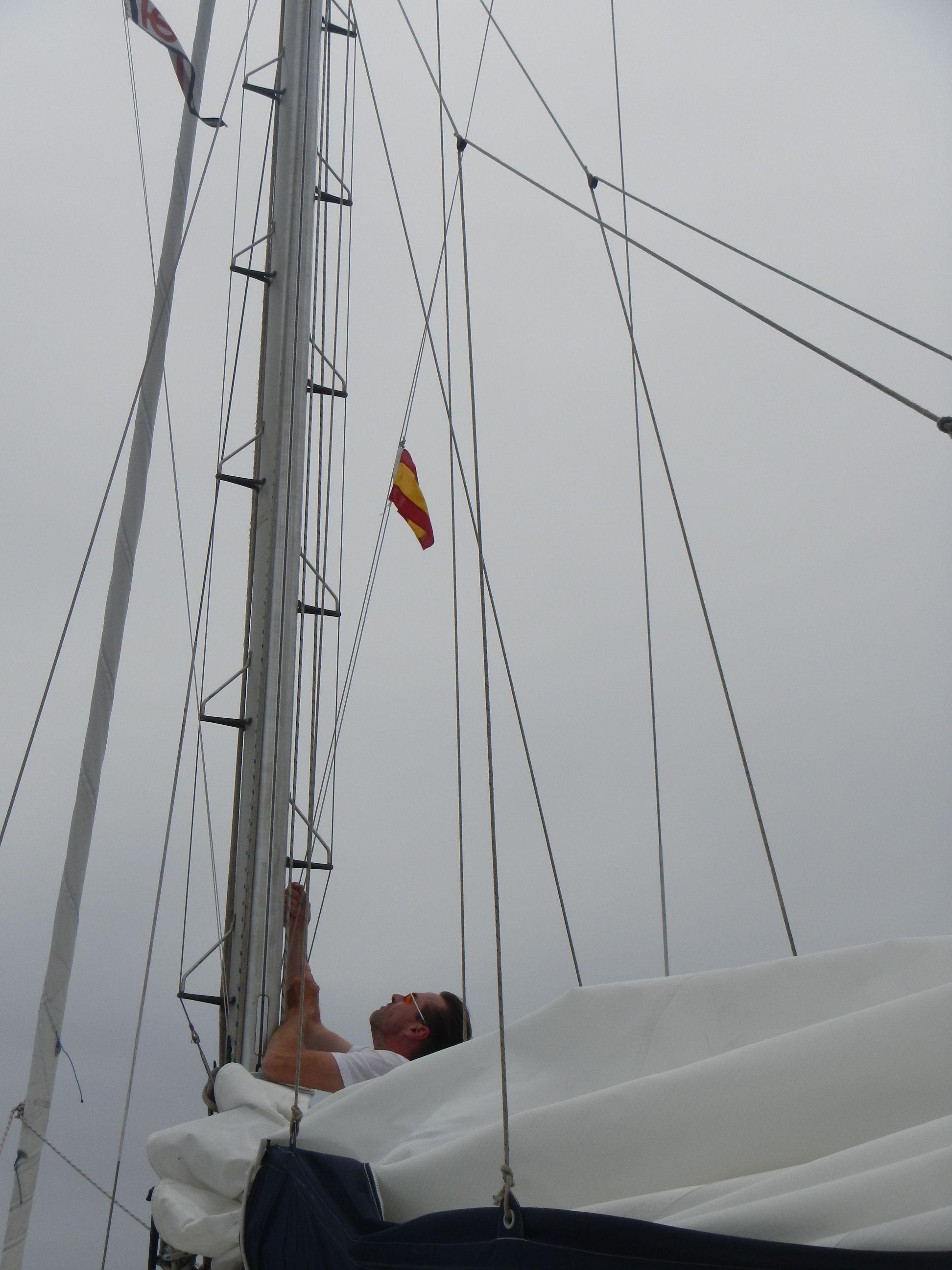 Setzen der spanischen Gastlandflagge