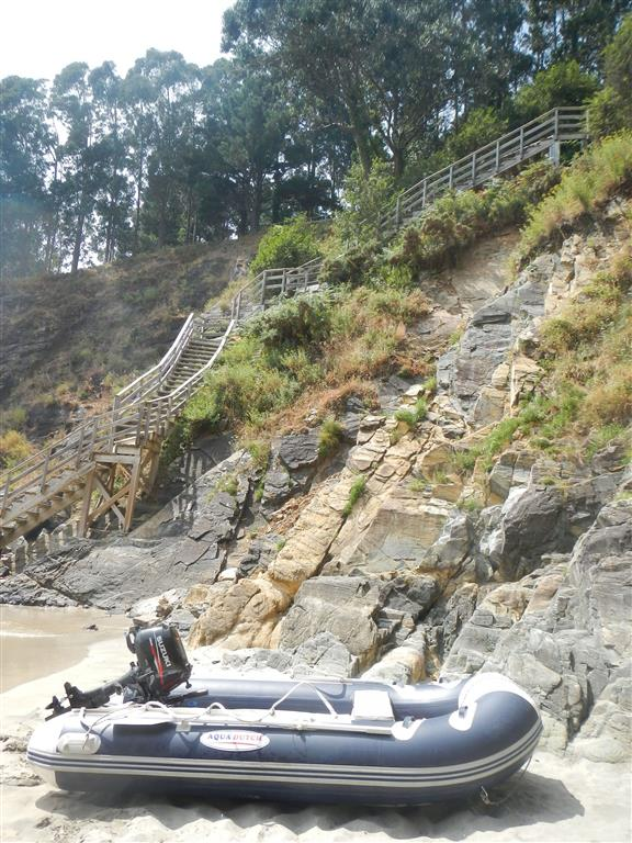 Ausflug mit dem Dingi in Cedeira