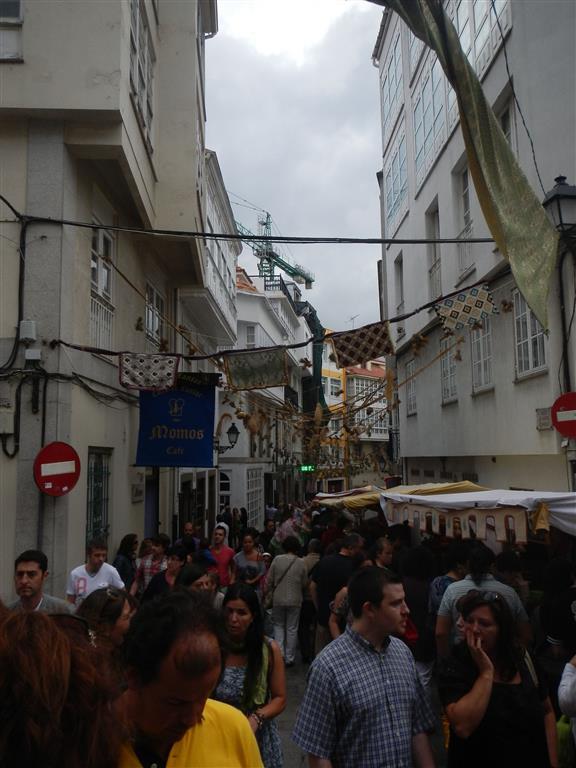 Mittelaltermarkt in A Coruna.