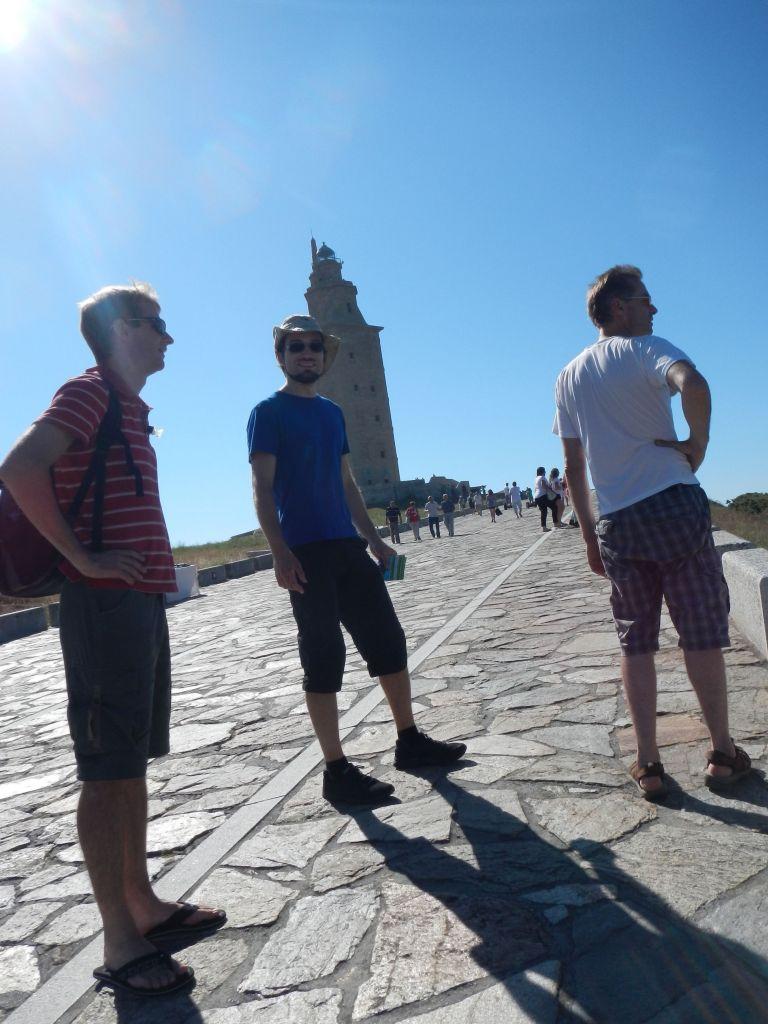 Auf dem steilen Weg zum Herkulesturm.