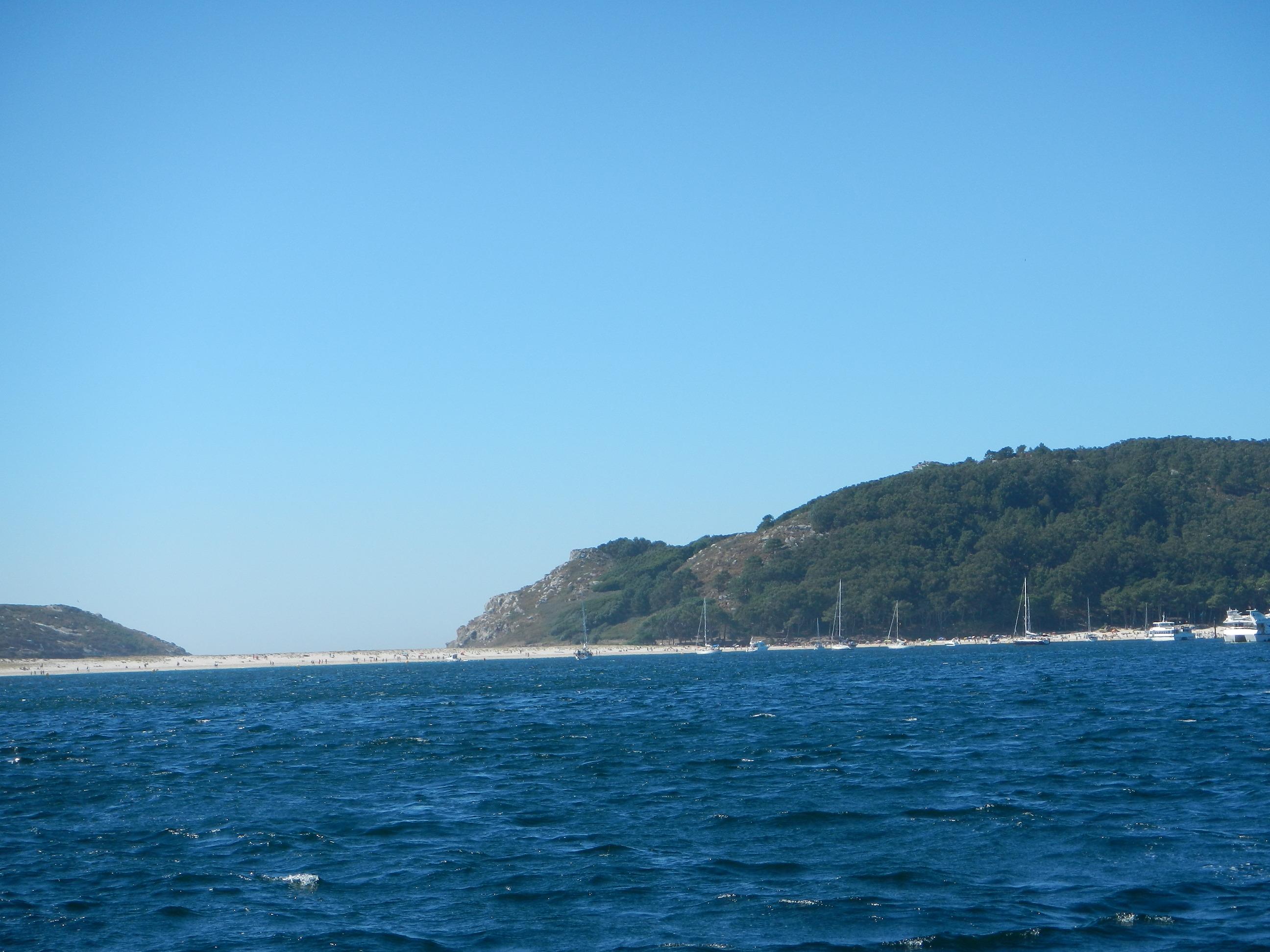 Der Strand der Islas de Cies, aber es war viel zu ungemütlich, also weiter zum FKK-Strand