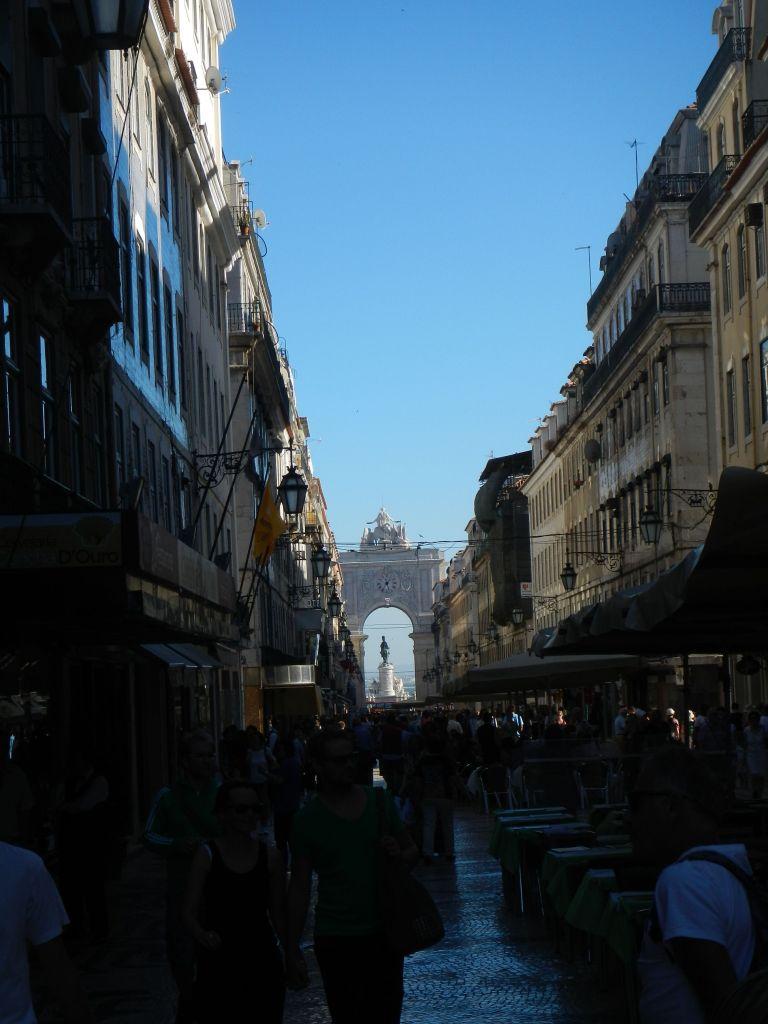Die Fußgängerzone von Lissabon.