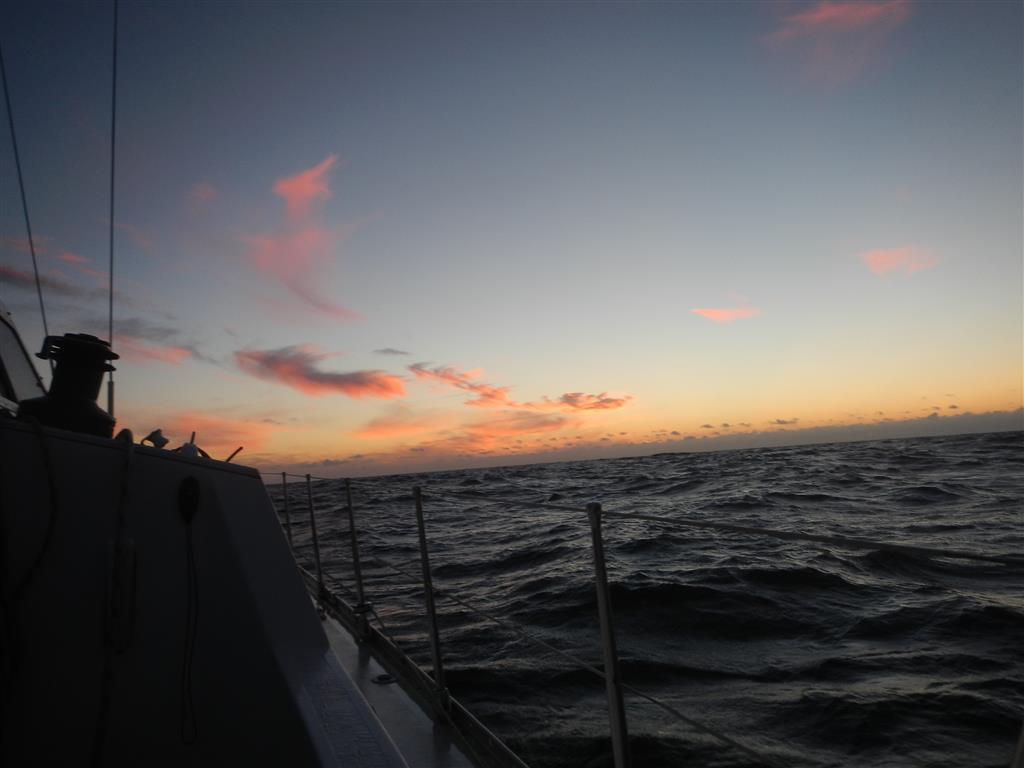 Sonnenuntergang unterwegs nach Porto Santo.