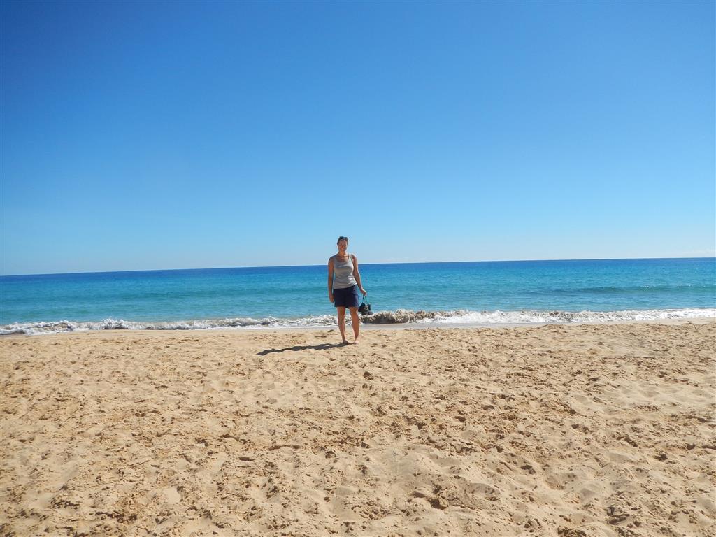 Am Strand von Porto Santo.