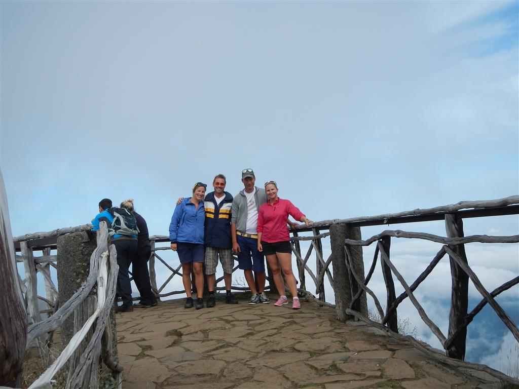 Mit Hanne und Nikke auf dem Pico Ruivo.