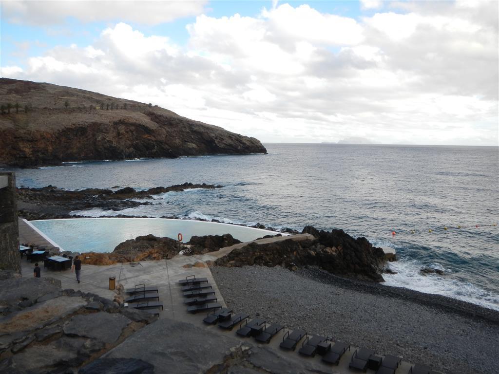 Blick auf den Pool, der bei Hochwasser mit Salzwasser gespeist wird.