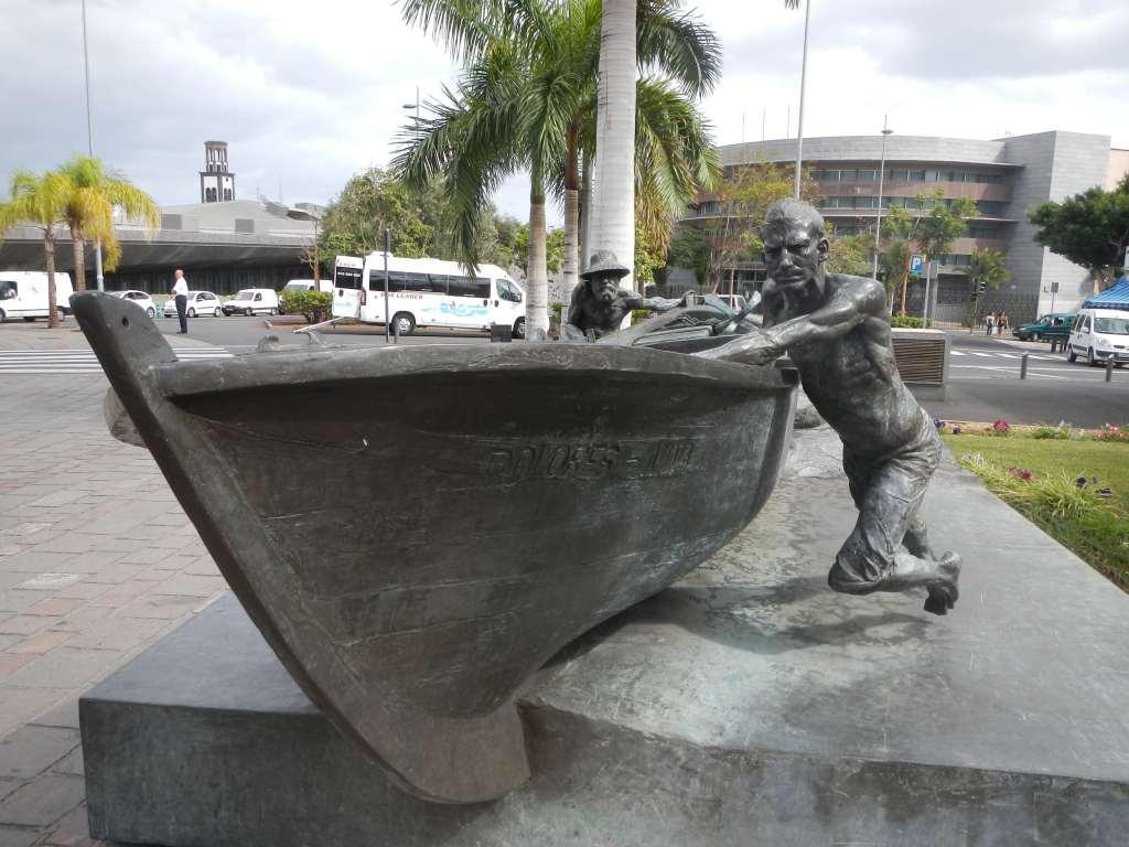 Ein Denkmal für die Fischer von Teneriffa.