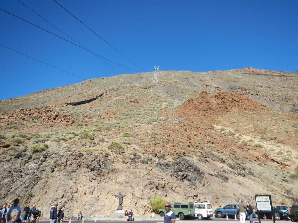 """Die Seilbahn """"Teleferico"""" bis fast auf den Gipfel des Teide."""