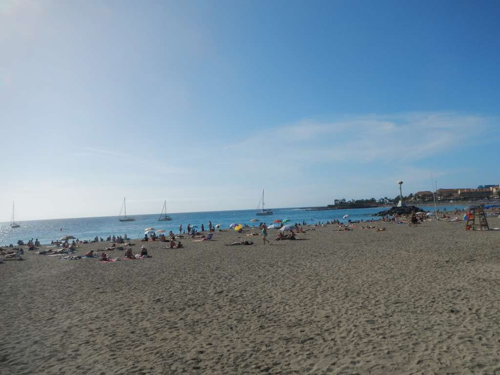 Der Strand in Los Cristianos.