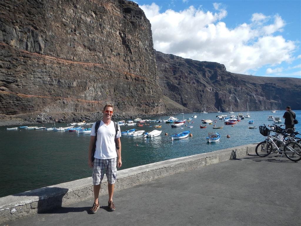 Der Hafen in Valle Gran Rey.