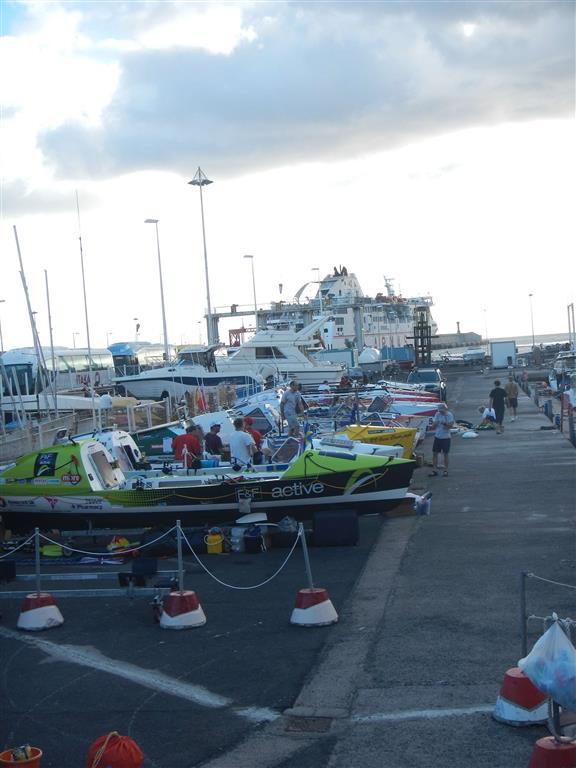 Auf La Gomera bereiten sich die Ruderer der Atlantic Challenge auf ihre Überfahrt in die Kariibik vor.