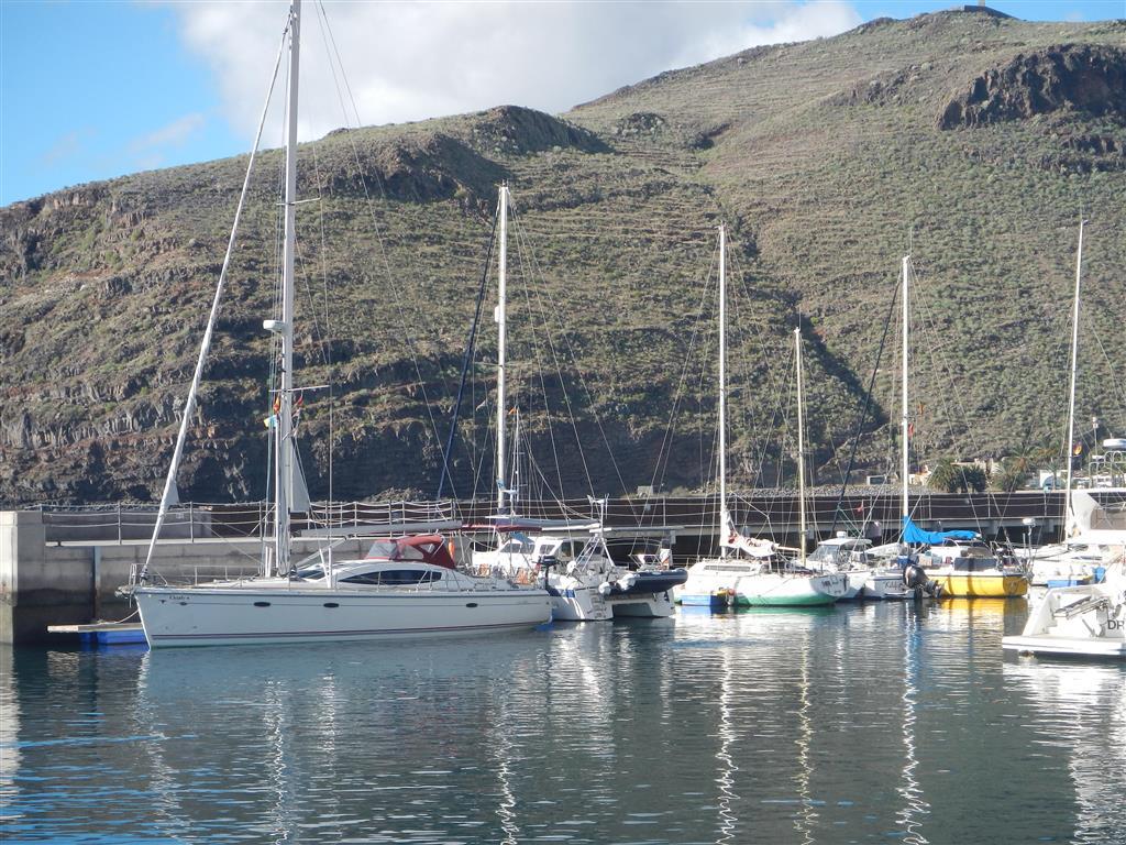 Im Hafen von San Sebastian (La Gomera).