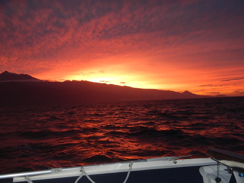 Morgens auf dem Weg von Teneriffa nach La Palma.