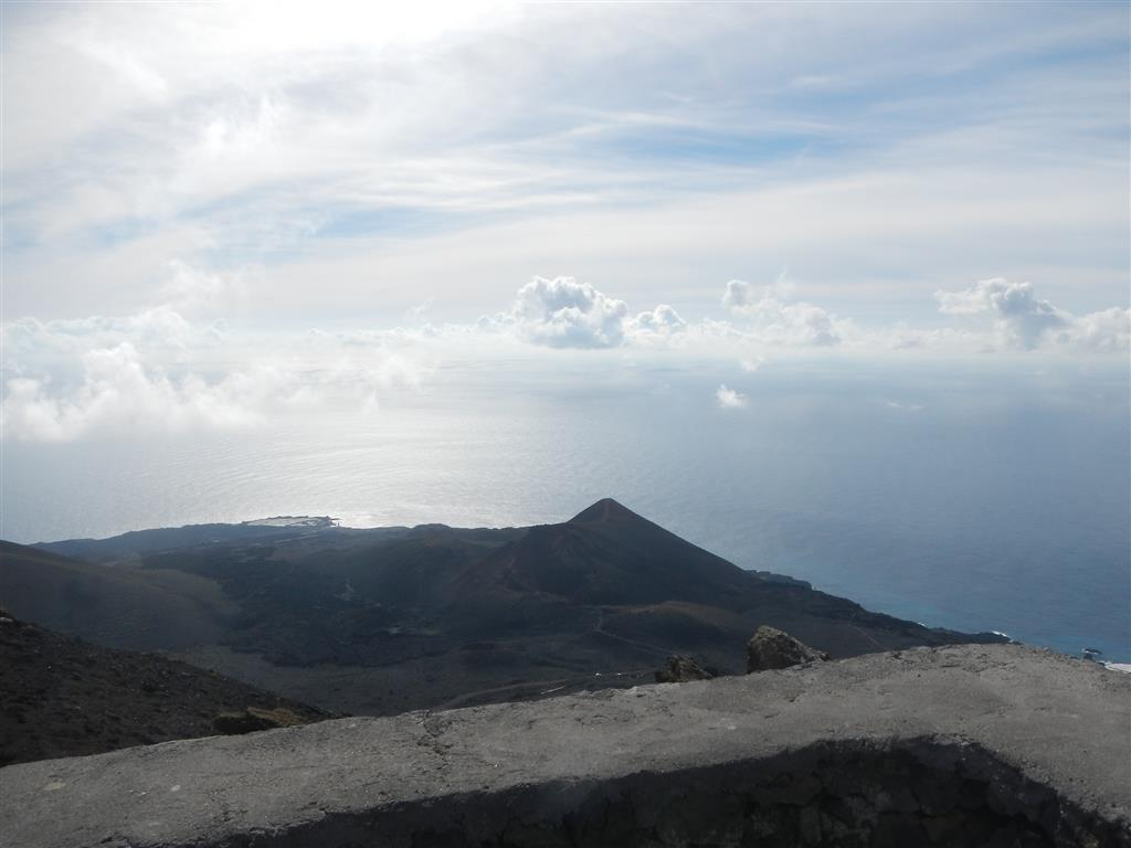 Blick auf den Vulkan Teneguia, der in den 70er Jahren zuletzt ausgebrochen ist.