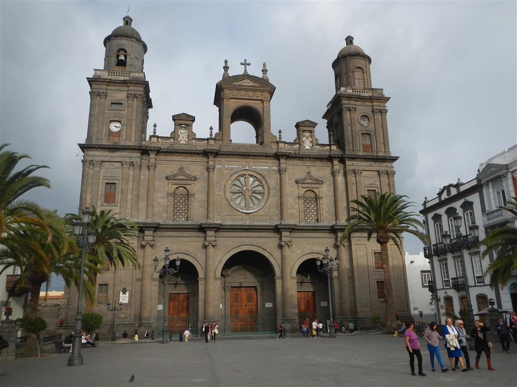 Die Kathedrale Santa Ana aus dem 15.Jahrhundert in der Innenstadt von Las Palmas.