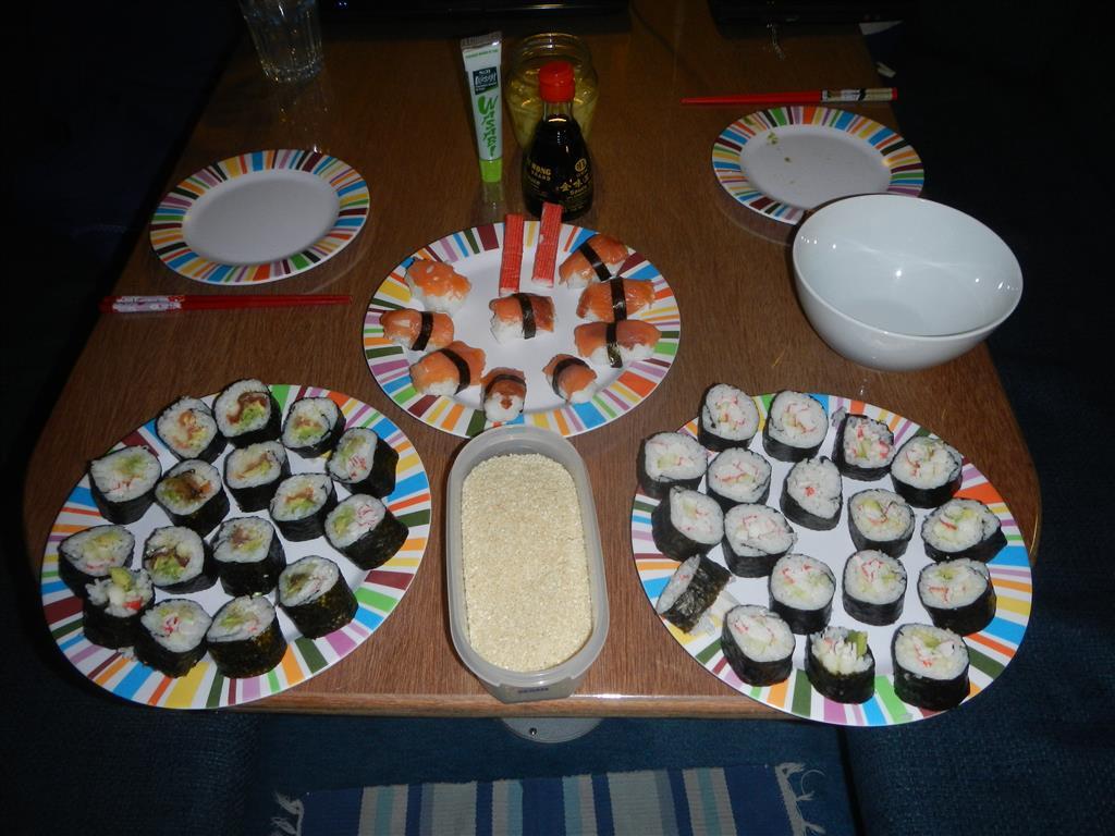Wir haben Sushi gemacht!
