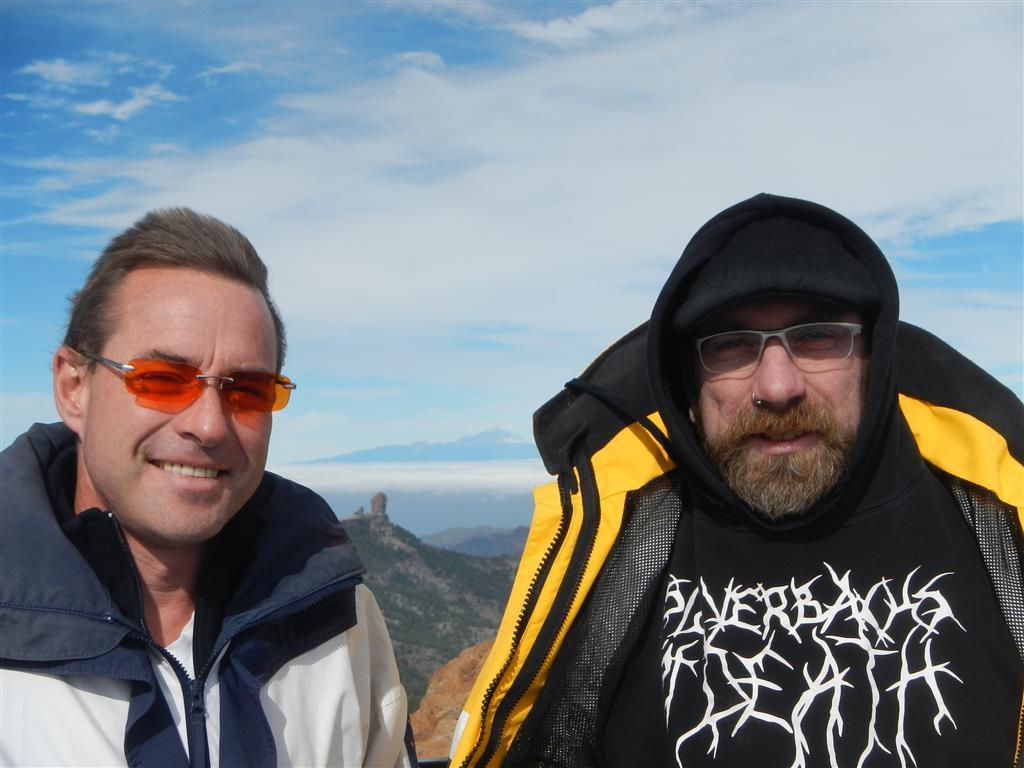 Auf dem Pico de las Nieves ist es ganz schön kalt!