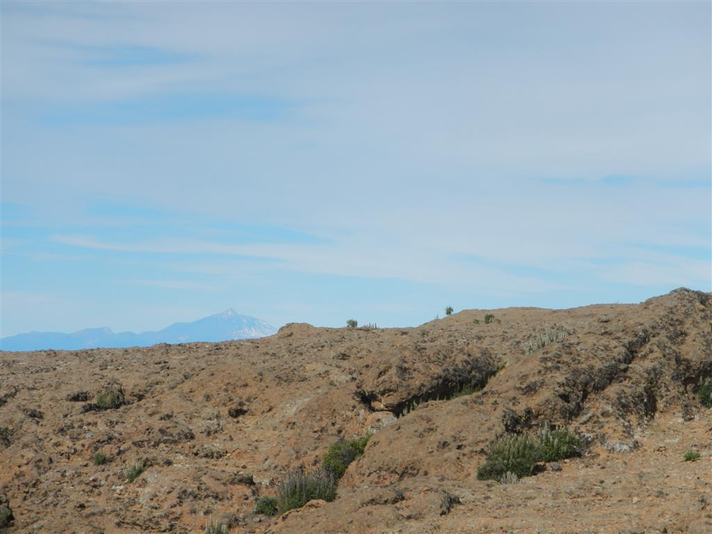 Blick vom Roque Nublo auf den Teide.