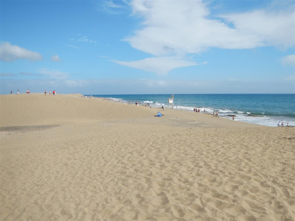 Am Strand von Maspalomas.