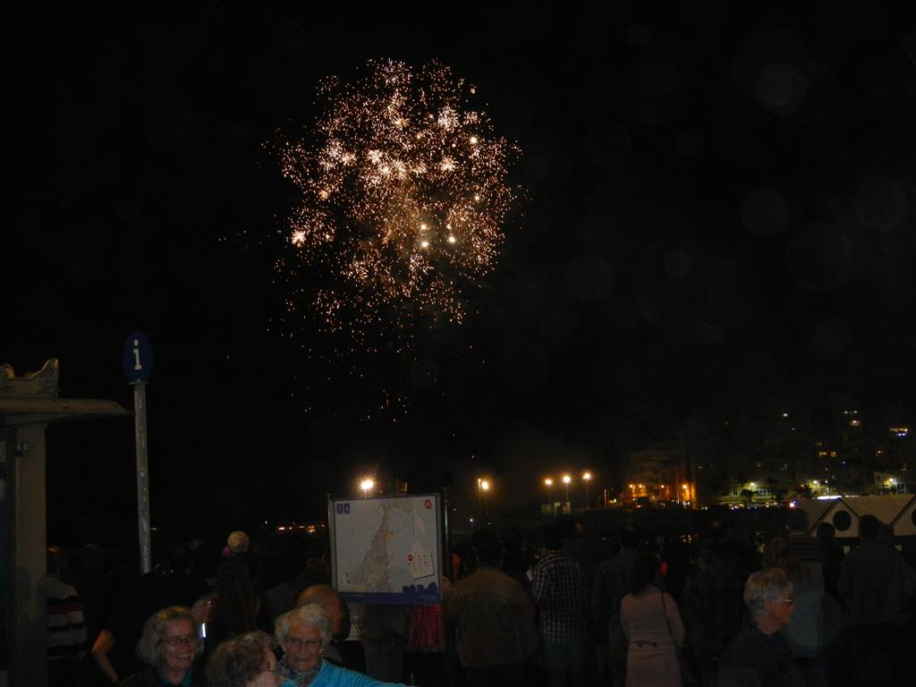 Feuerwerk zum Abschied der Sardine
