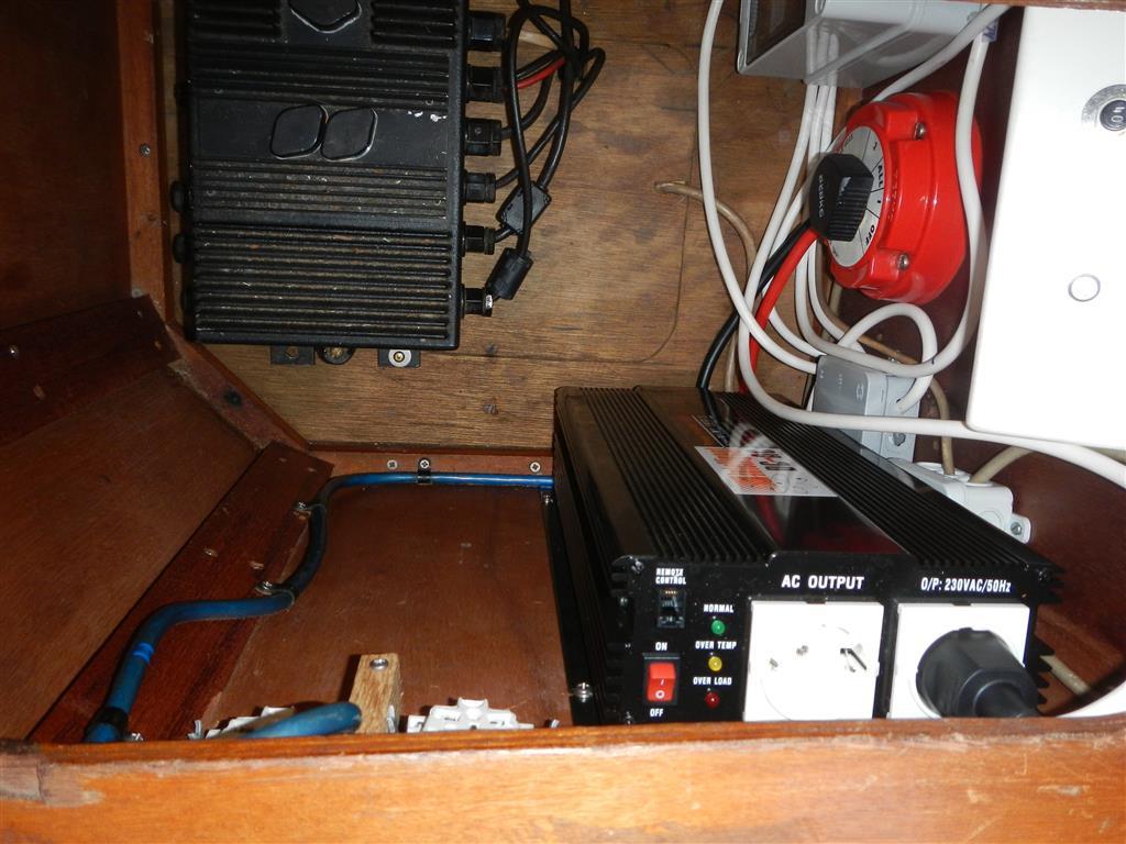 Ach ja, unser Wechselrichter ist jetzt auch erfolgreich installiert.