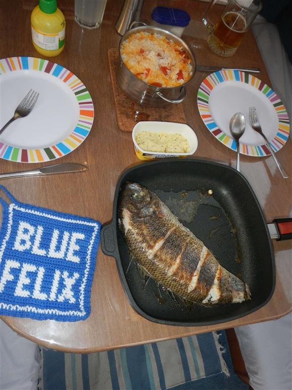 Diesen Fisch haben wir uns noch zum Abschied von Mindelo gegönnt, war sehr lecker!