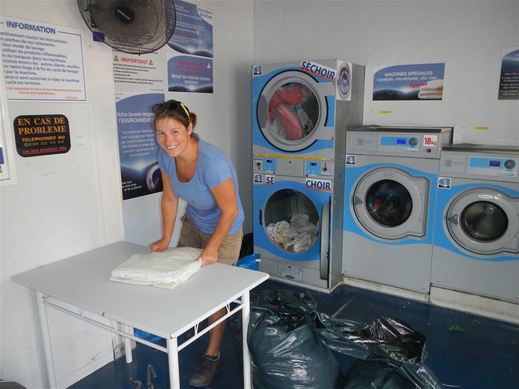 Im Waschsalon von St. Laurent du Maroni.