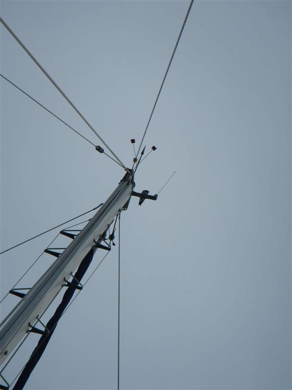... auch oben im Mast.