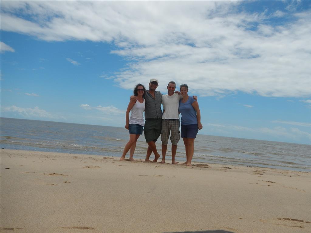 Mit Claudia und Jonathan am Schildkrötenstrand