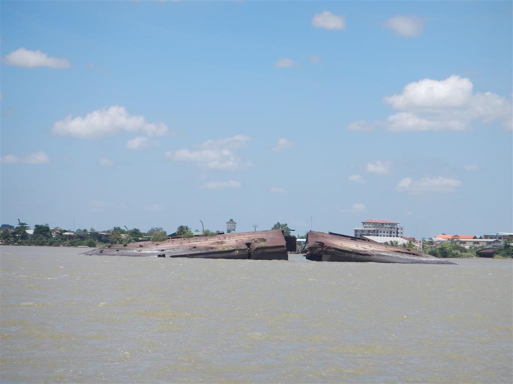 Im Surinam Fluss liegt das Wrack der Goslar
