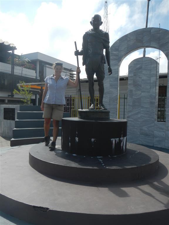 Mahatma Gandhi Statue in der Innenstadt von Paramaribo