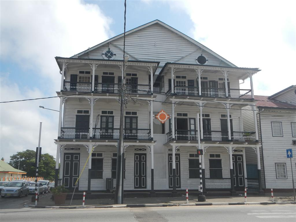 Typisches Haus für Paramaribo