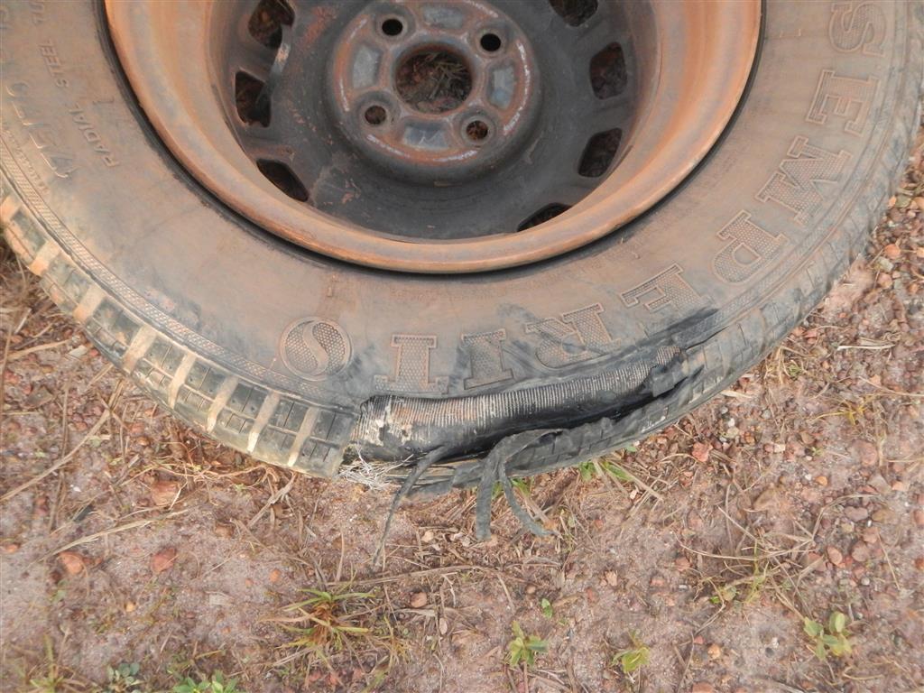 Dieser Reifen ist nicht mehr zu gebrauchen...
