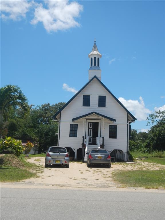 Kirche in der Nähe des Forts Nieuw Amsterdam