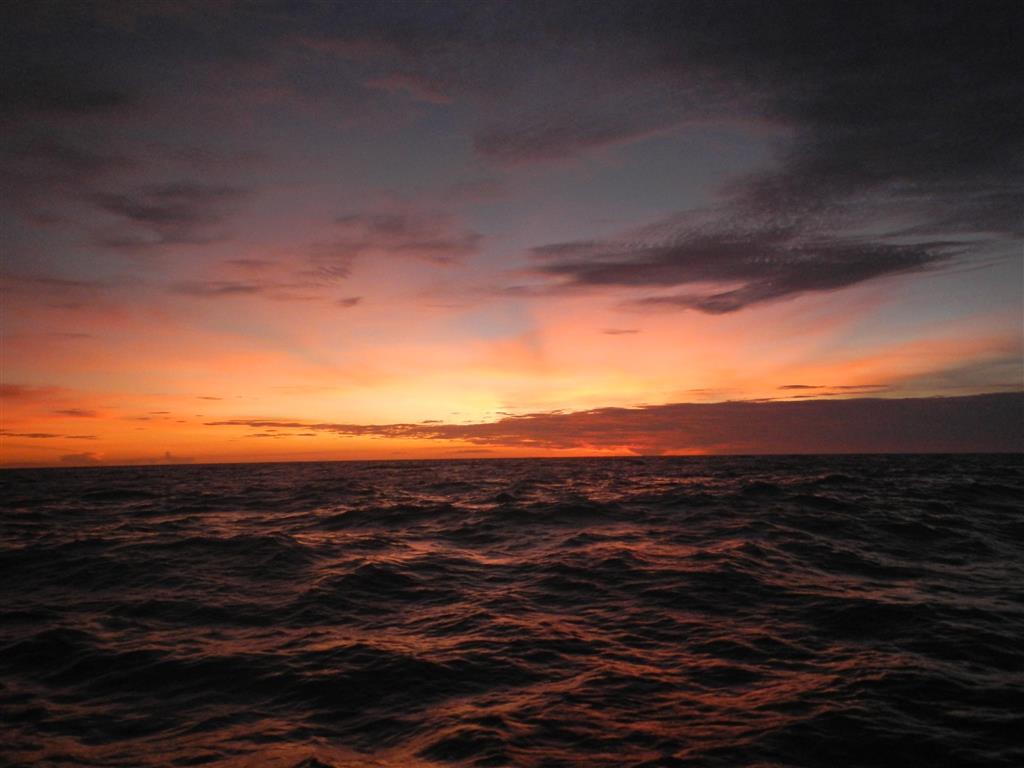Sonnenuntergang auf see