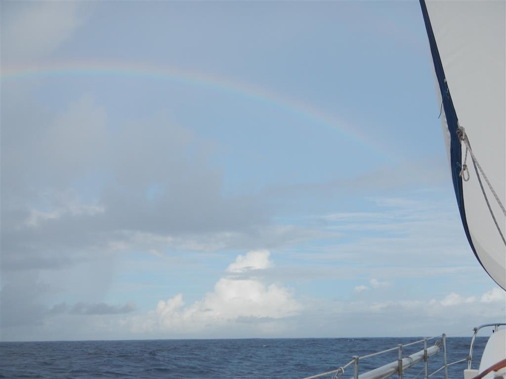nach einem Regenschauer gibt es dann aber auch meist einen schönen Regenbogen