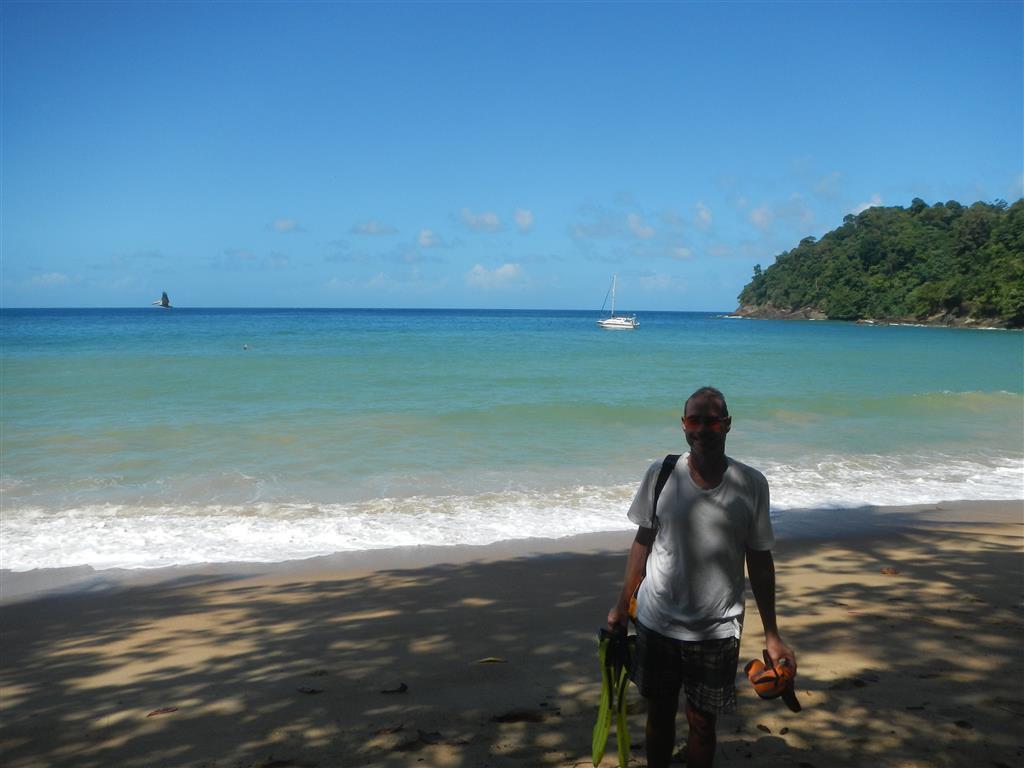 Blue Felix allein in der Englishman's Bay auf Tobago