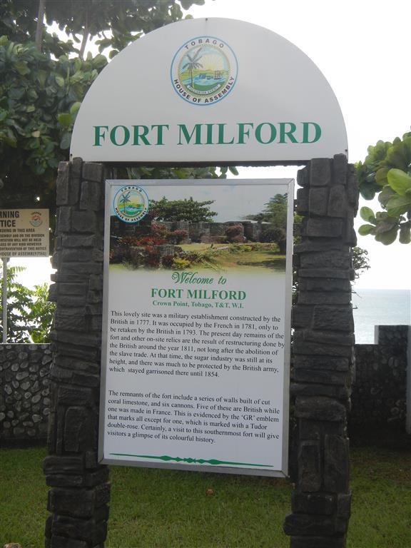 Fort Milford im Süden von Tobago