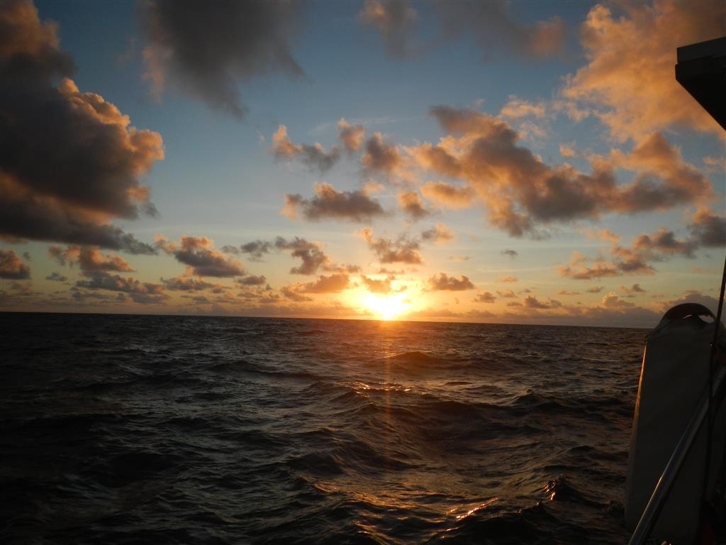 Sonnenaufgang auf dem Weg nach Grenada