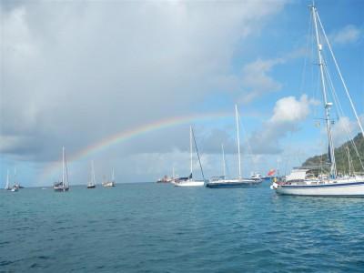 Regenbogen über Tyrral Bay