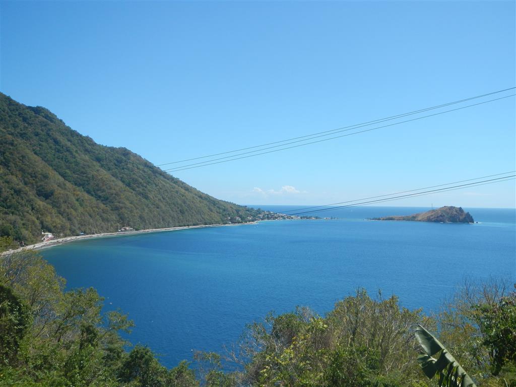 Blick auf den Süden von Dominica: Scotts Head