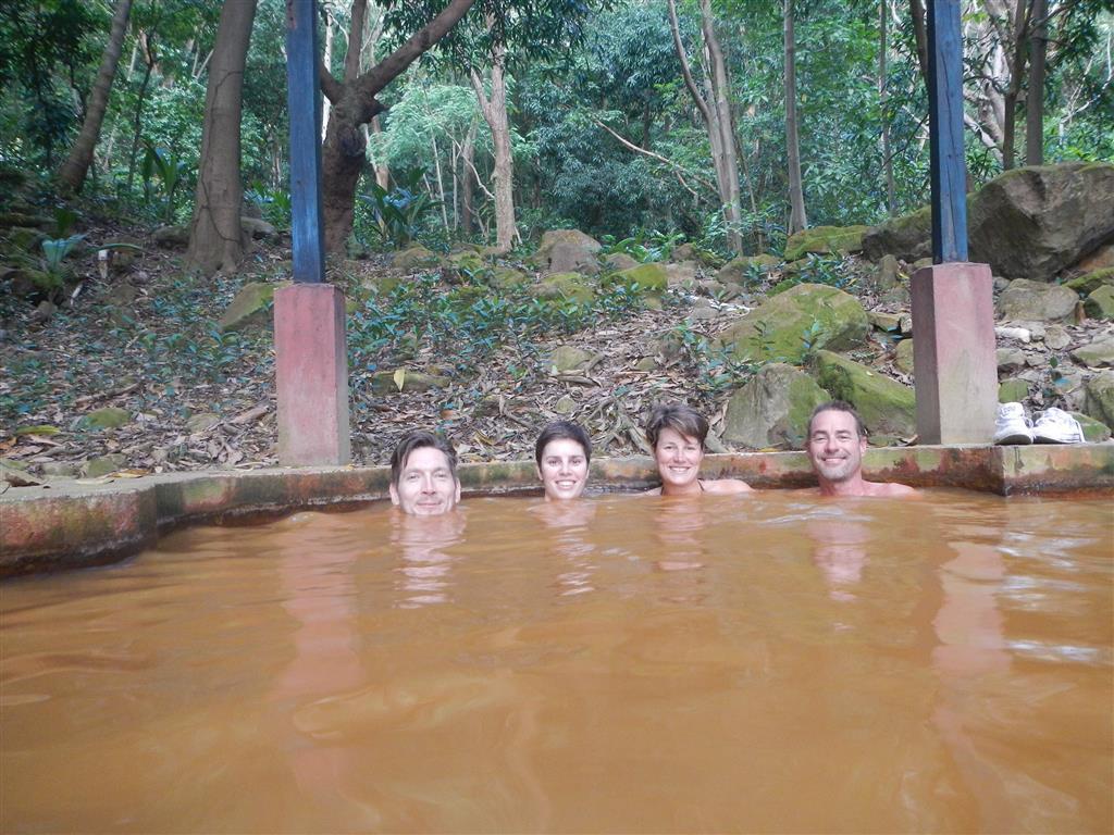 Im schön warmem Bad der Sulphur Springs